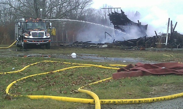 Firefighters respond to a house fire on Abbott Lane in Eastbrook. The fire was reported around 10 a.m. Tuesday, Nov. 29.
