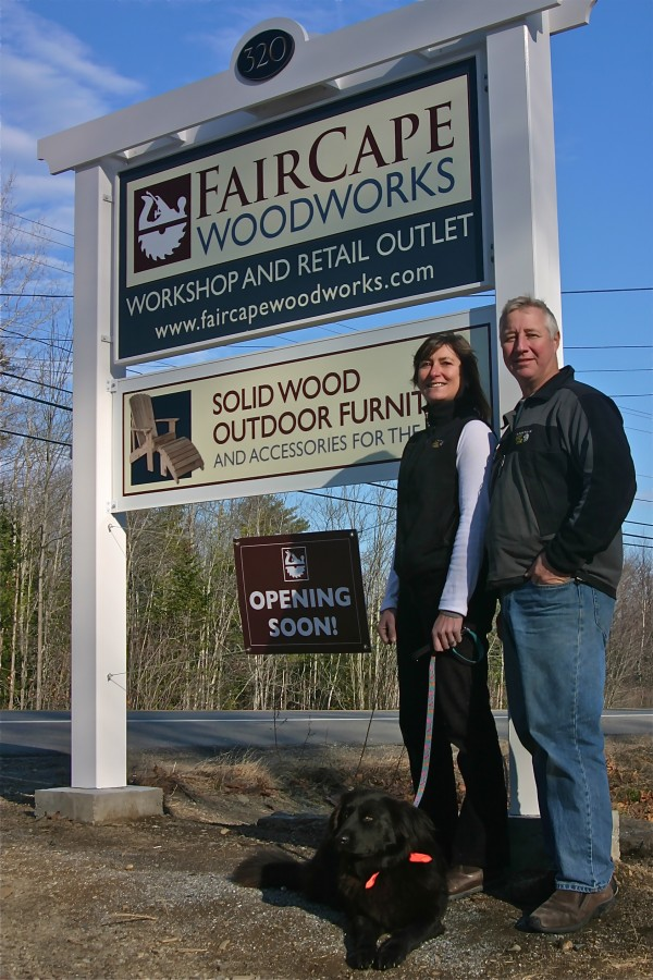 World-travelers Clive and Odi Brown have settled on the Mid-Coast and opened their new business, FairCape Woodworks, on Route 90 in Rockport.