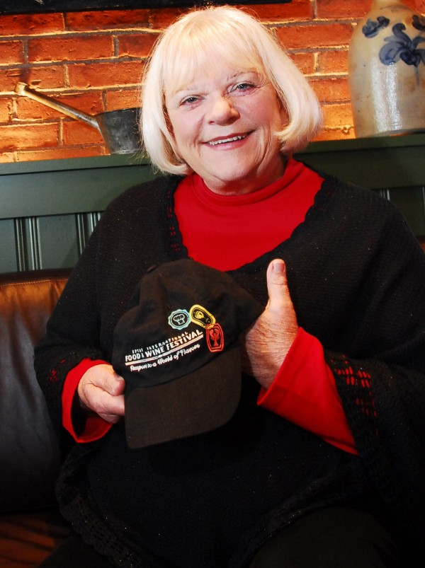 Linda Bean has recently expanded the retail end of her business, including a new store in Freeport and licensing agreements that include a new operation in the Portland Jetport and at The Epcot International Food & Wine Festival at Walt Disney World Resort in Florida. Bean is holding a hat from the festival which features a lobster in her Freeport restaurant Tuesday, Oct. 25, 2011.