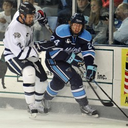 UMaine goalie Sullivan learns lessons in first NCAA Regional appearance