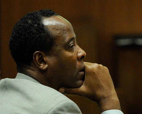 Dr. Conrad Murray listens as defense attorney Ed Chernoff (not pictured) gives the defense's closing arguments during the final stage of Conrad Murray's defense in his involuntary manslaughter trial in the death of singer Michael Jackson at the Los Angeles Superior Court in Los Angeles, Calif., on Thursday, Nov. 3, 2011.