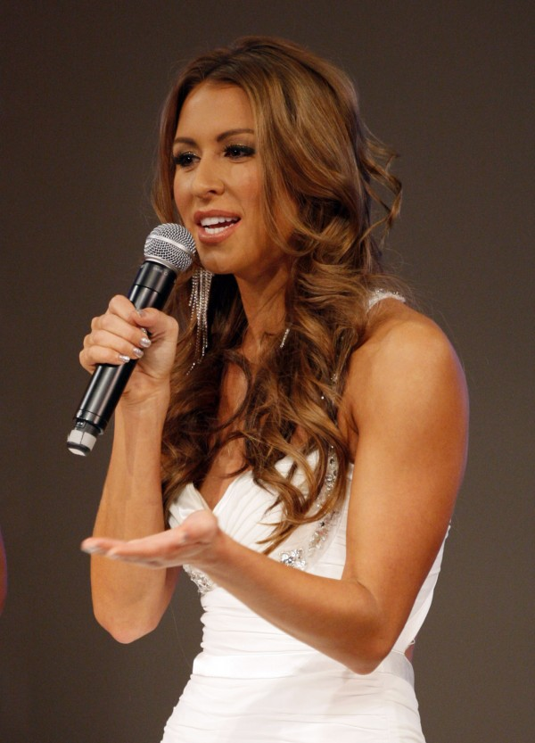 Ashley Underwood from the CBS show &quotSurvivor&quot co-hosts the annual Miss Maine USA and Miss Maine Teen USA Pageant, Sunday, Nov. 20, 2011, in Westbrook.