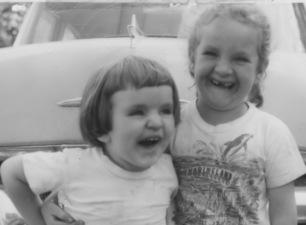 Monica Wood and her sister, Betty, when they were children.
