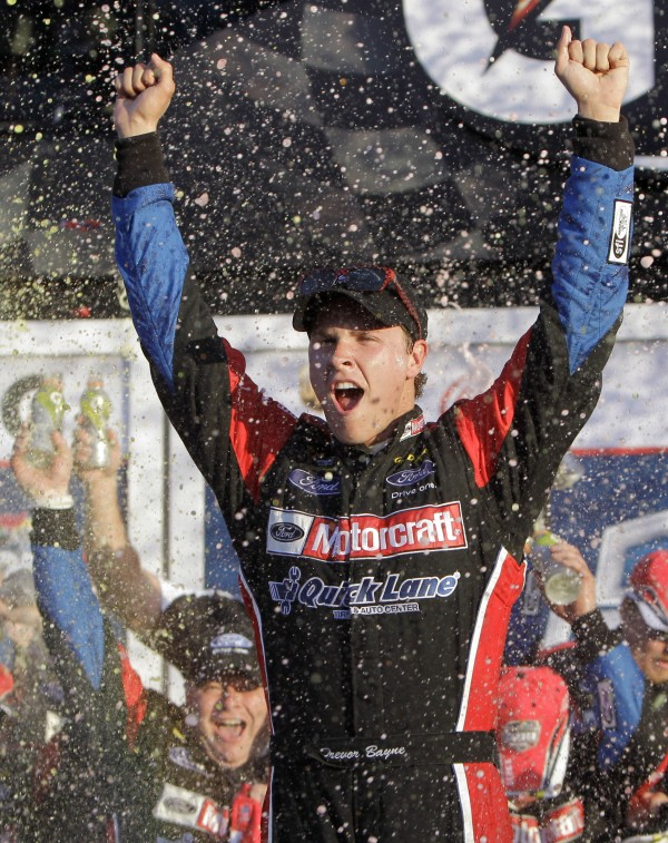 Trevor Bayne celebrates in victory lane after winning the Daytona 500 NASCAR auto race at Daytona International Speedway in Daytona Beach, Fla., on Feb. 20, 2011 NASCAR opened its season with a fresh-faced Daytona 500 winner and ended it with one of the most thrilling championship race in series history.