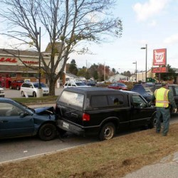 Woman suffers injuries in 3-vehicle Rumford crash