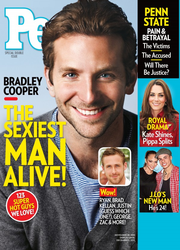 In this cover image released by People, actor Bradley Cooper is shown on the cover of the special &quotsexiest man alive,&quot issue, available on newsstands Friday, Nov. 18, 2011.
