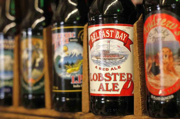 The Belfast Brewing Co., brewers of the Lobster Ale, are one of about 80 Maine suppliers featured at the Public Market House in Portland.