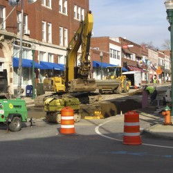 Block of downtown Ellsworth to close this weekend for sinkhole repair