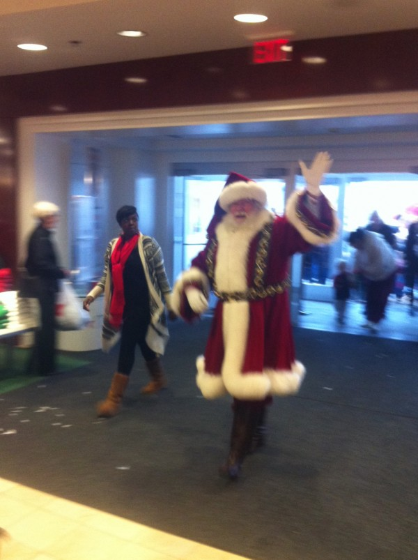 """Santa Claus arrives in Bangor for the first leg of Macy's """"Believe"""" campaign, which will visit 26 cities in as many days throughout the U.S."""