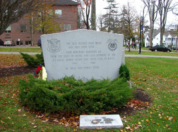 A memorial on the Maine Maritime Academy campus
