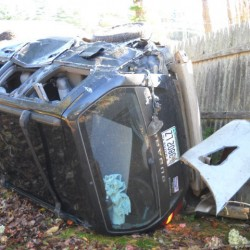 Driver pulled from vehicle after Lincolnville crash