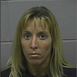 Levant woman charged in handcuffs theft