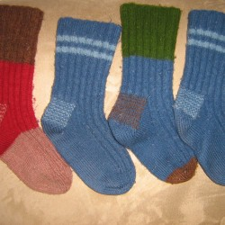 Legacy of knitting mittens passed down through family