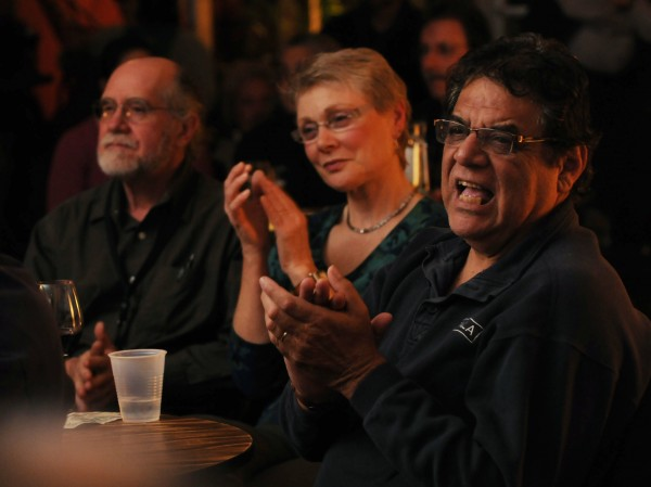 Jazz fans applaud a solo during a jazz jam at Nocturnem Draft Haus on Tuesday, Nov. 22, 2011.