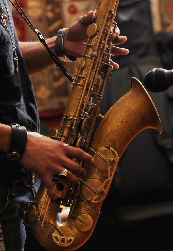 Cody Miller of Old Town plays the saxophone during a jazz jam at Nocturnem Draft Haus in Bangor on Tuesday, Nov. 22, 2011.