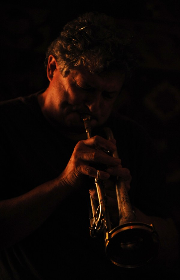 Cornet player Bruce Cassaday of Milbridge plays jazz during a jazz jam at Nocturnem Draft Haus in Bangor on Tuesday Nov. 1, 2011.