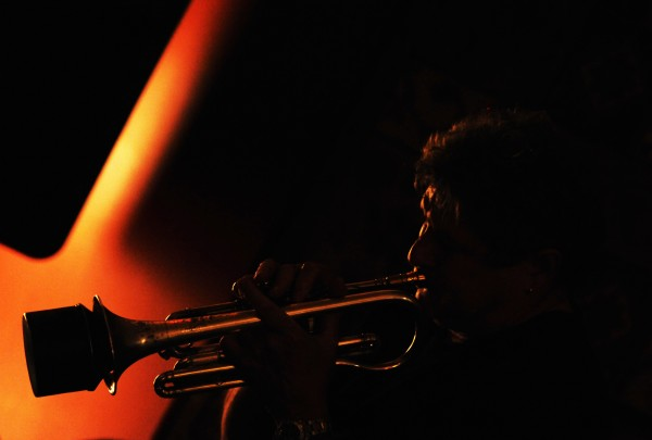 Cornet player Bruce Cassaday of Milbridge plays jazz during a jazz jam at Nocturnem Draft Haus in Bangor on Tuesday Oct. 25, 2011.
