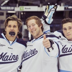 Black Bear freshman defensemen making an impact while learning college hockey