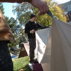 Occupy Bangor hunkers down in tents outside library; police take no action