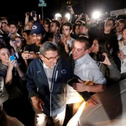 Penn State trustees fire Joe Paterno, president Spanier; students riot