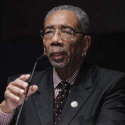 Rep. Bobby Rush, D-Ill., takes part in a congressional round-table on college sports, offering their perspectives on current state of NCAA athletics, Tuesday, Nov. 1.