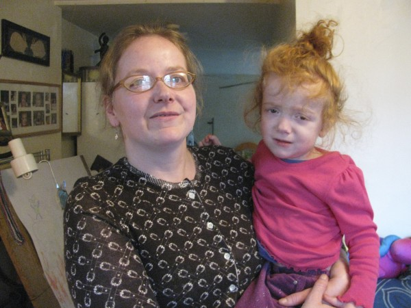 Pati Toy holds her nearly 3-year-old daughter, Vivian Simone, at their Belfast apartment this week. Vivian, who suffers from the medical condition hydrocephalus, is the first recipient of the new Waldo County Family to Family Fund. Funds raised through the organization will help Vivian and her mom through a hard time.