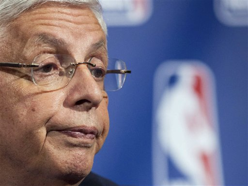 NBA commissioner David Stern speaks during a news conference in New York recently. NBA owners and players reached a tentative agreement early Saturday morning Nov. 26, 2011 to end the 149-day lockout.
