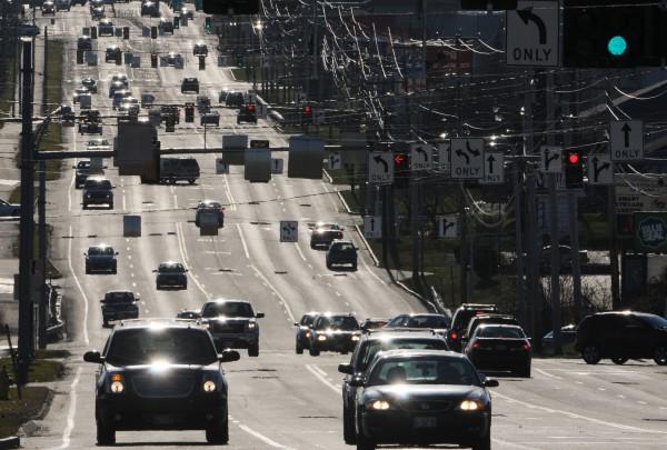 Traffic on Stilwater Avenue in Bangor as seen on Tuesday, Nov. 22, 2011.