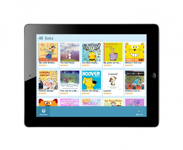 UTales offers a growing collection of children's books which can be viewed on a computer, iPhone or iPad.