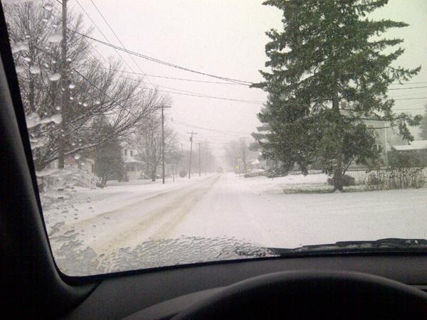 Roads are slick around the state as snow continues to fall.