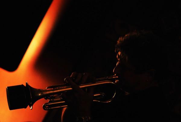 Cornet player Bruce Cassaday of Milbridge plays jazz during a Jazz Jam at Nocturnem Draft Haus in Bangor on Tuesday, Oct. 25, 2011.