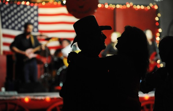 Patrick Cote and his wife, Dolores, of Brewer dance to the country music of Family Tradition during a benefit for country music fan Willy Hall of Bucksport at the Happy Acres Bottle Club in Alton on Sunday, March 6, 2011.