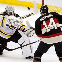 Bruins fall to fourth place for Eastern Conference playoffs after loss to Senators
