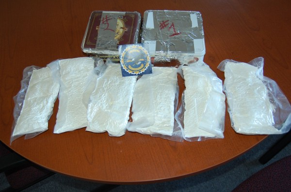 Drugs confiscated by Maine State Police Wednesday, Dec. 14, 2011.
