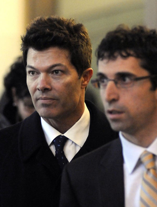 Dr. Anthony Galea (left) arrives at federal court for sentencing in Buffalo, N.Y., Friday, Dec. 16, 2011.