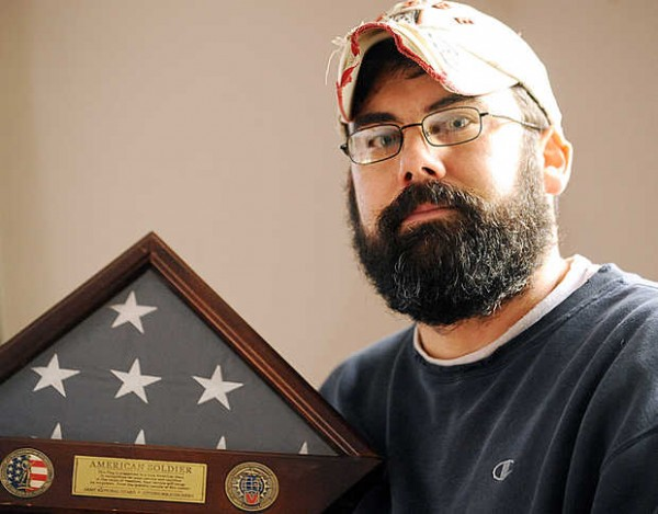 Bruce Morris, an Iraq War combat veteran with 21 years in the Maine National Guard, attended group counseling with Justin Crowley-Smilek, an Army Ranger shot and killed by a Farmington police officer on Nov. 19.