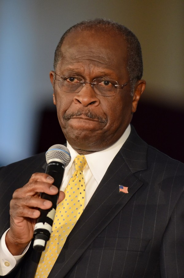 Republican presidential candidate Herman Cain speaks to supporters at The Magnolia Room at Laurel Creek  Friday, Dec. 2, 2011, in Rock Hill, S.C.