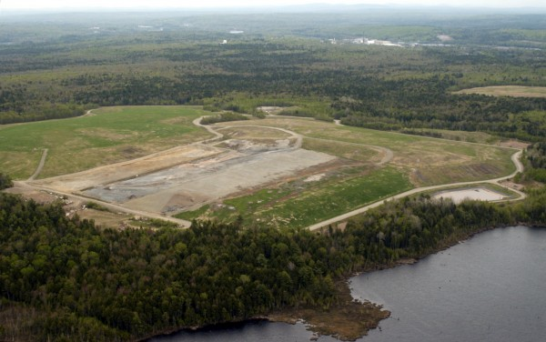 The Dolby landfill is seen along the banks of Dolby Pond in East Millinocket in May 2003.