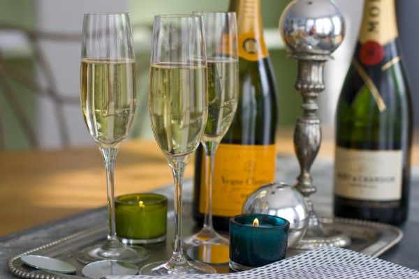 This Nov. 14, 2011, photo shows glasses of Champagne in Concord, N.H.