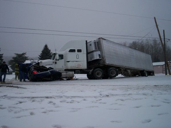 Rachel Gauvin, 56, of Hamlin died in a Route 1 accident in Grand Isle on Friday. The collision happened at about 10: 42 a.m. while snow was falling.