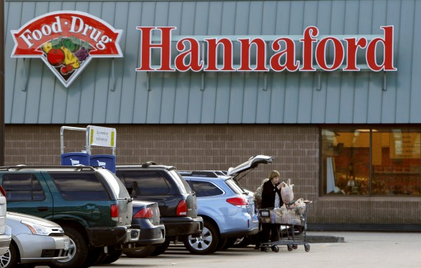A shopper loads groceries into her car at a Hannaford's grocery store in Auburn on Friday, Dec. 16, 2011.