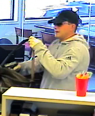 Bank surveillance cameras captured this image of the man suspected in a robbery at the Bank of America at 1090 Hooksett Road in Hooksett, N.H.