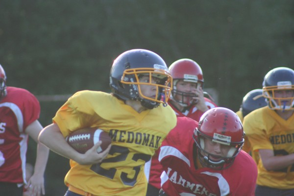 Medomak Youth Football in action.