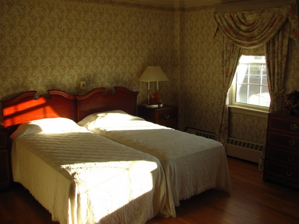 One of the bedrooms that will be available at the assisted living facility operated within the old Jed Prouty Inn in Bucksport. Although the outside of the 230-year-old building needs attention, most of the interior is in good shape, according to the new owners, Rhonda and John Chambers.