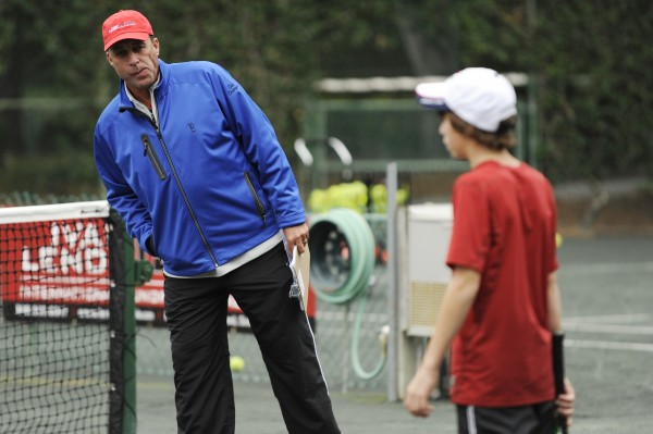 Ivan Lendl, director of tennis for the Ivan Lendl International Junior Tennis Academy, watches over a student recently during a training session in Hilton Head, S.C.