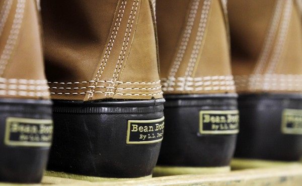 In this photo from Dec. 14, 2011, pairs of boots are seen in the facility where L.L. Bean boots are assembled in Brunswick. L.L. Bean's famed hunting boots are seeing a surge in popularity, necessitating the hiring of more than 100 additional employees to make them.