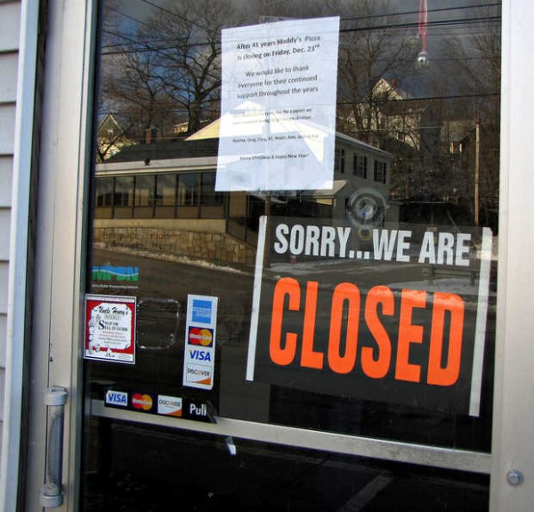 Maddy's Pizza on Main Street in Mexico was forced to close its doors for good on Friday after serving the community for 41 years. Owner Norma Arsenault said tough economic times, competing food chains and medical bills led to the closing.