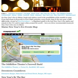 Maine New Year's Events in Mapquest