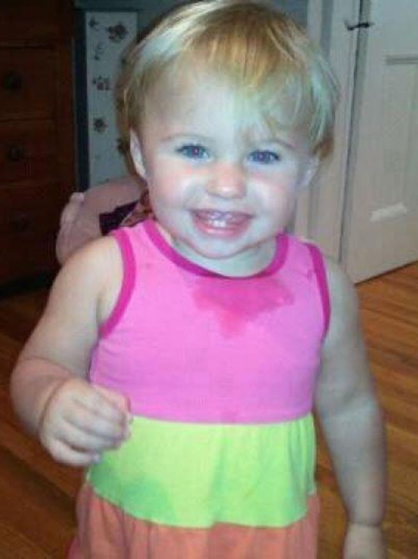 This undated photo obtained from a facebook page shows missing toddler Ayla Reynolds. Police in Maine are appealing to the public for help in locating the 20-month-old girl.