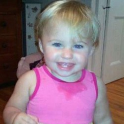 This undated photo from a Facebook page shows missing toddler Ayla Reynolds.